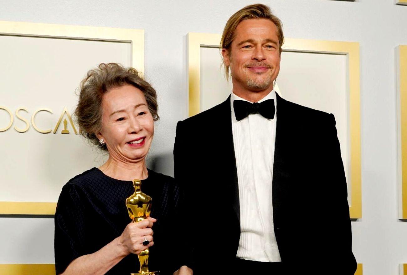 Kontroversi Oscar: Momen Pertemuan Pertama Brad Pitt & Youn Yuh-jung Disalah Tafsir!